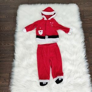 Two piece baby santa outfit